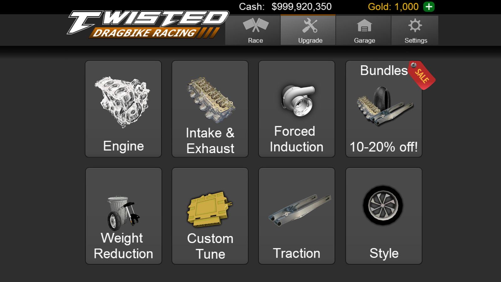 Download a game Twisted: Dragbike Racing android