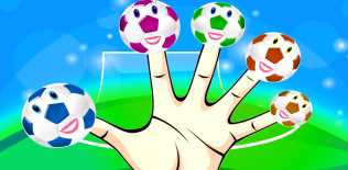 Finger soccer: Football kick